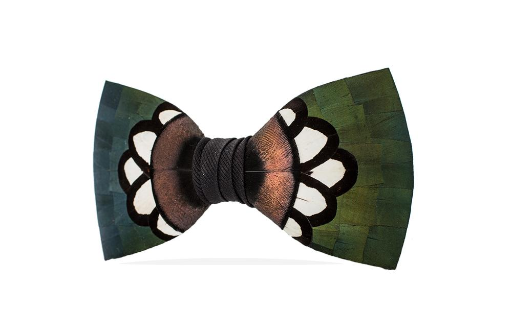 HANNA FEATHER BOW TIE