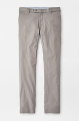 HIGHLANDS PERFORMANCE FLAT FRONT TROUSER - PEARL GREY