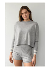 THE KERRI CASHMERE SHORT - GREY
