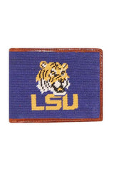 lsu needlepoint wallet