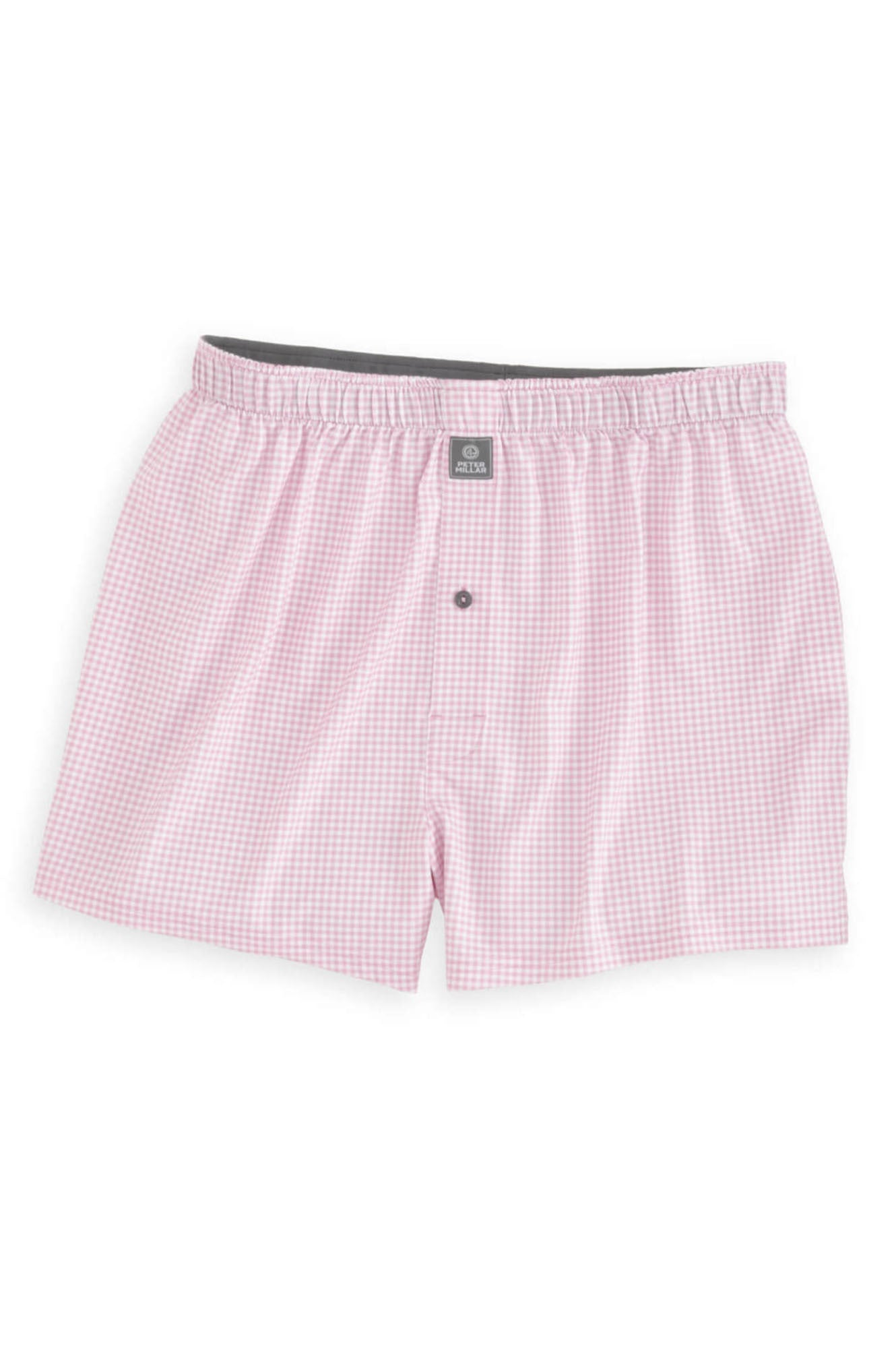 NEBRASKA GINGHAM STRETCH BOXER-BERMUDA PINK