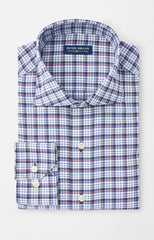 CROWN CRAFTED VAUGHN PLAID OXFORD SHIRT - NAVY