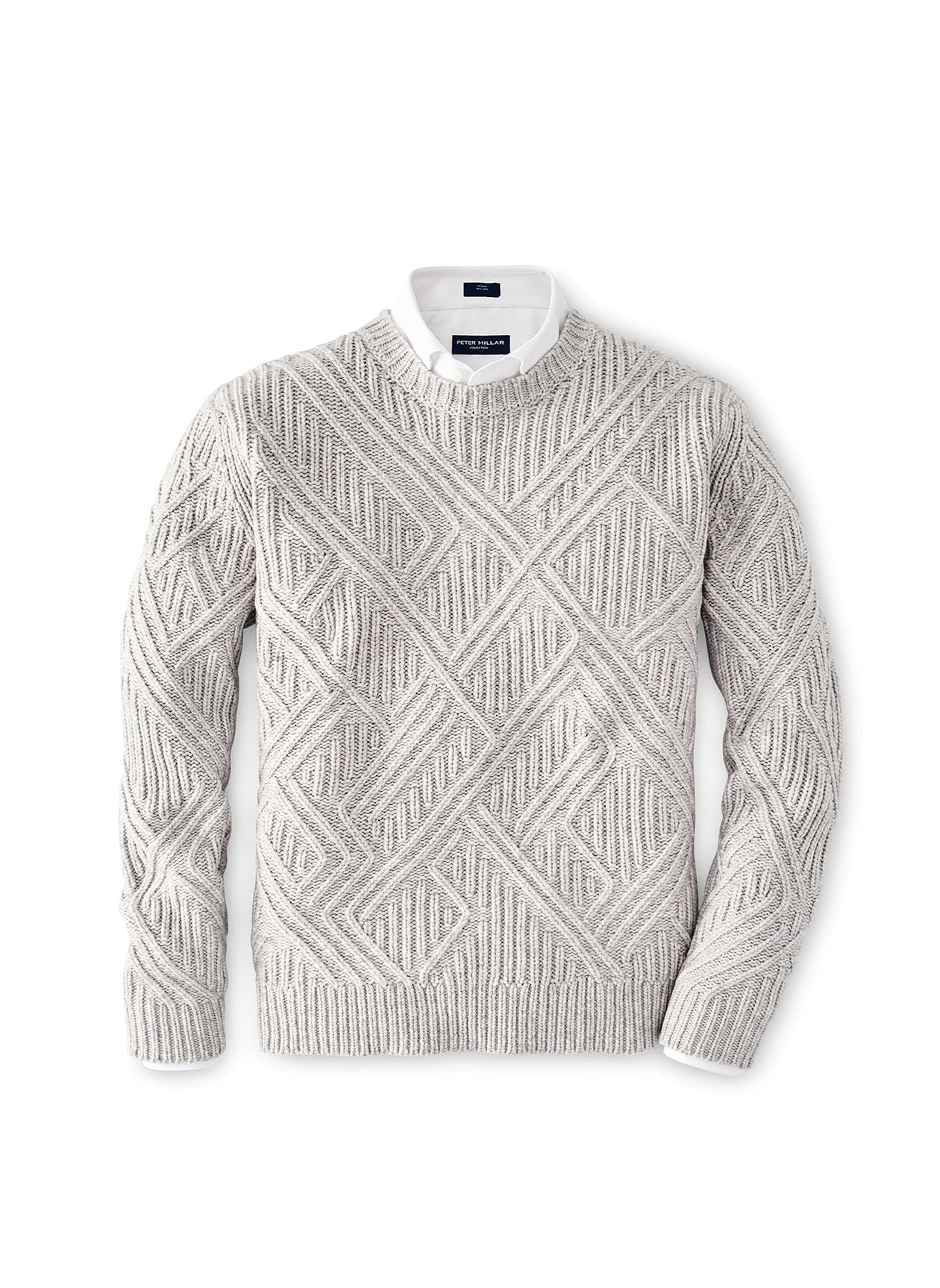 CHALET CHAIN LINK CREW NECK SWEATER - ARGENTO