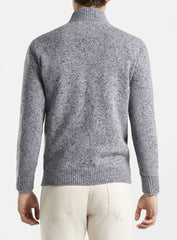 DONEGAL 1/4 ZIP SWEATER - GALE GREY