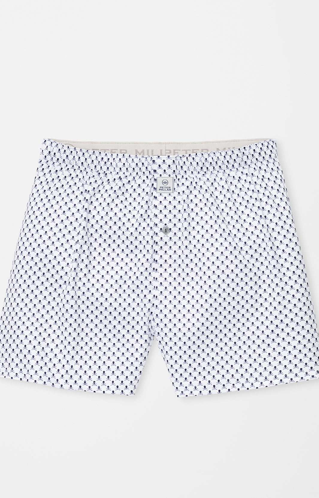 TAXES SKULLS AND CLUBS BOXER - WHITE