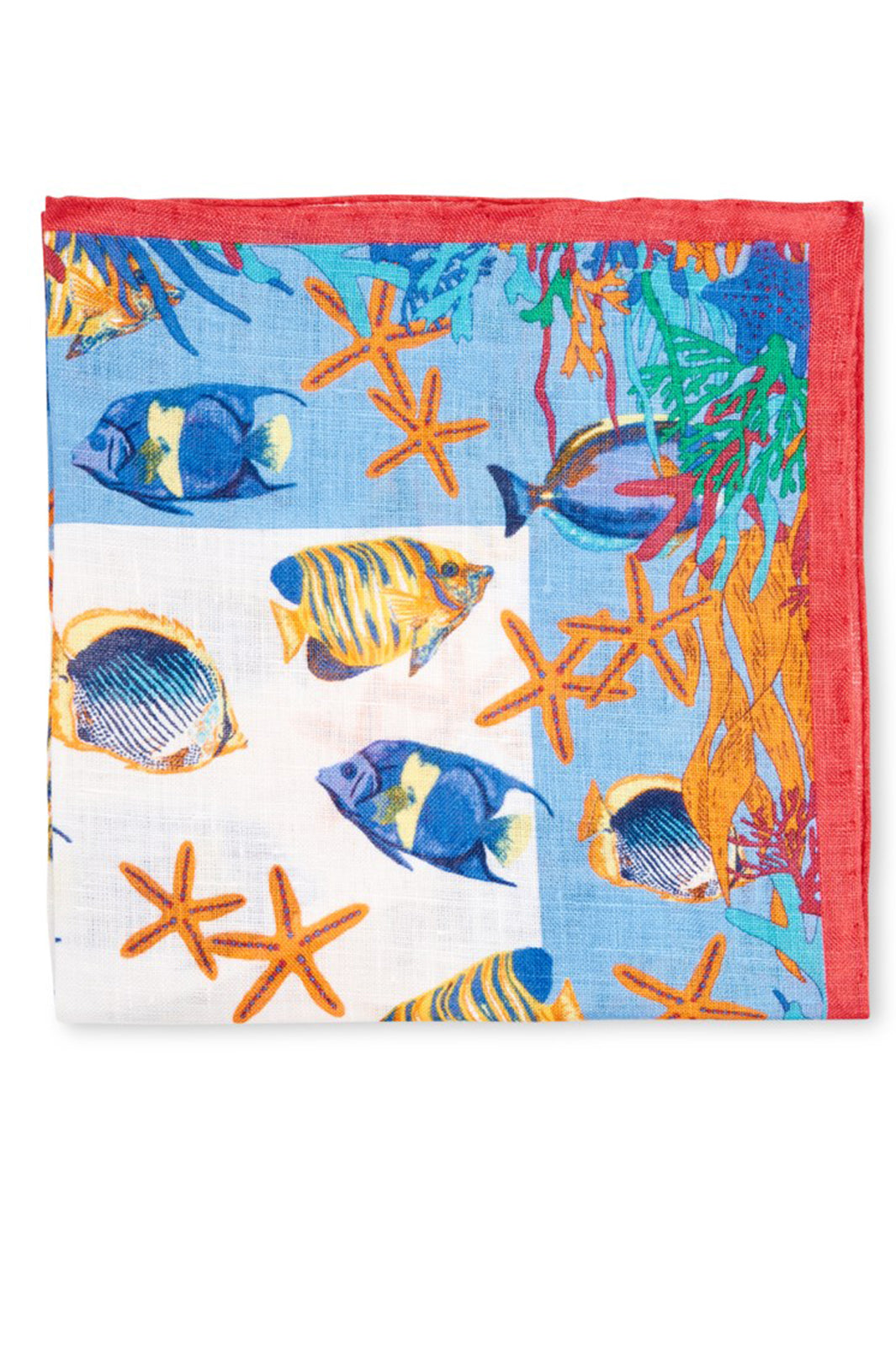 FISH IN THE SEA POCKET SQUARE - ROSEFISH