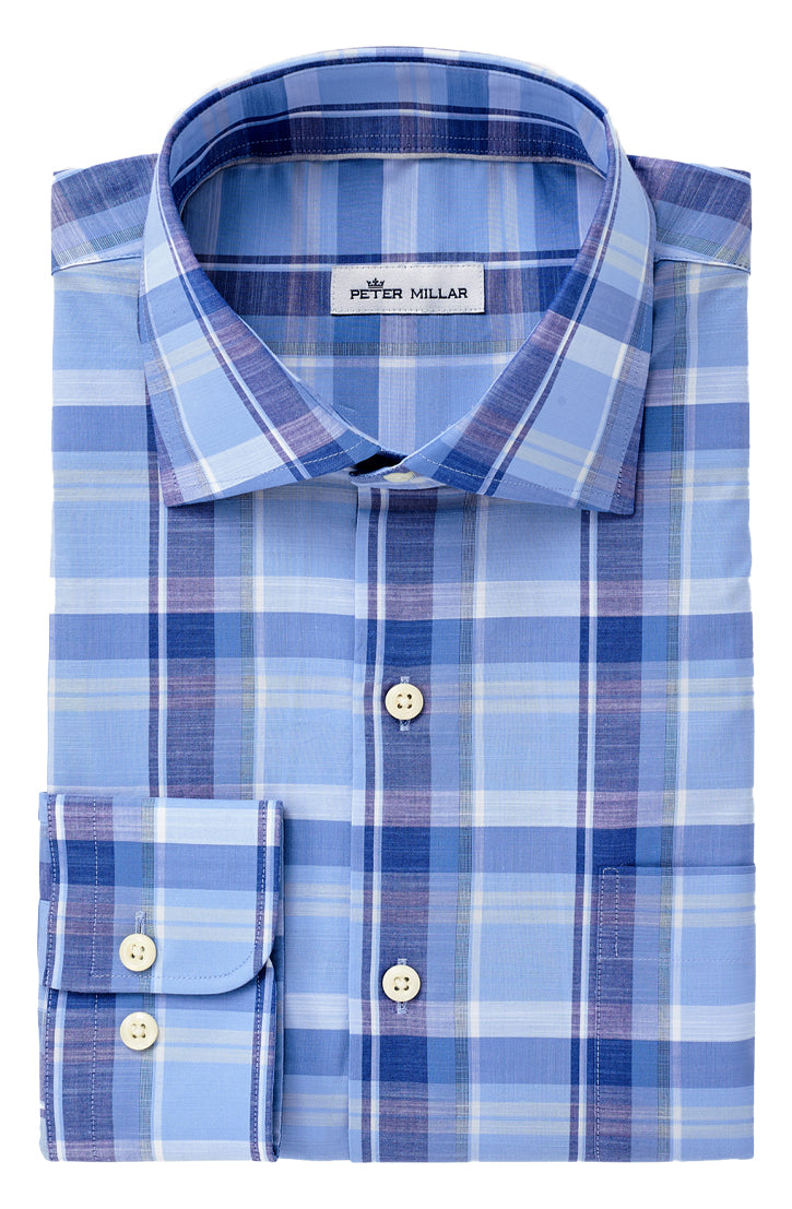 MILO PLAID SHIRT - COTTAGE BLUE