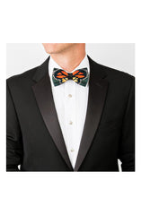 MONARCH FEATHER BOW TIE