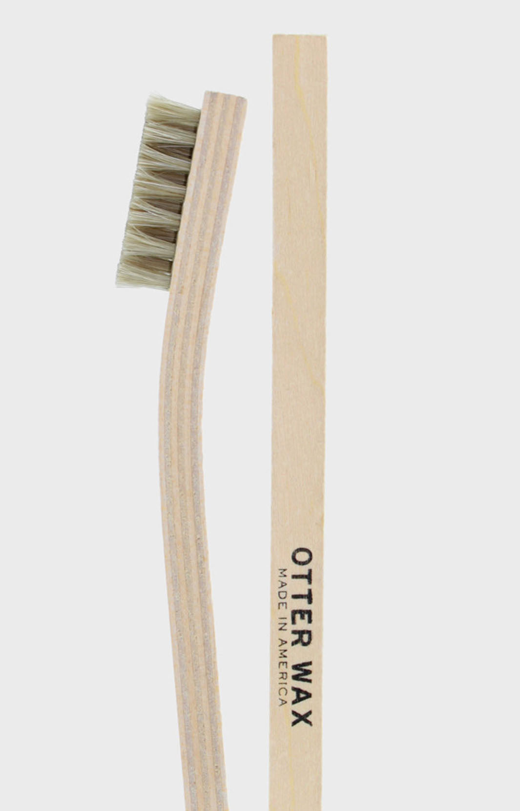 shoe buff brush, leather brush, horse hair brush, otter wax