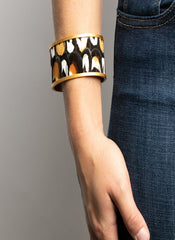 RANDALL WIDE CUFF FEATHER BRACELET