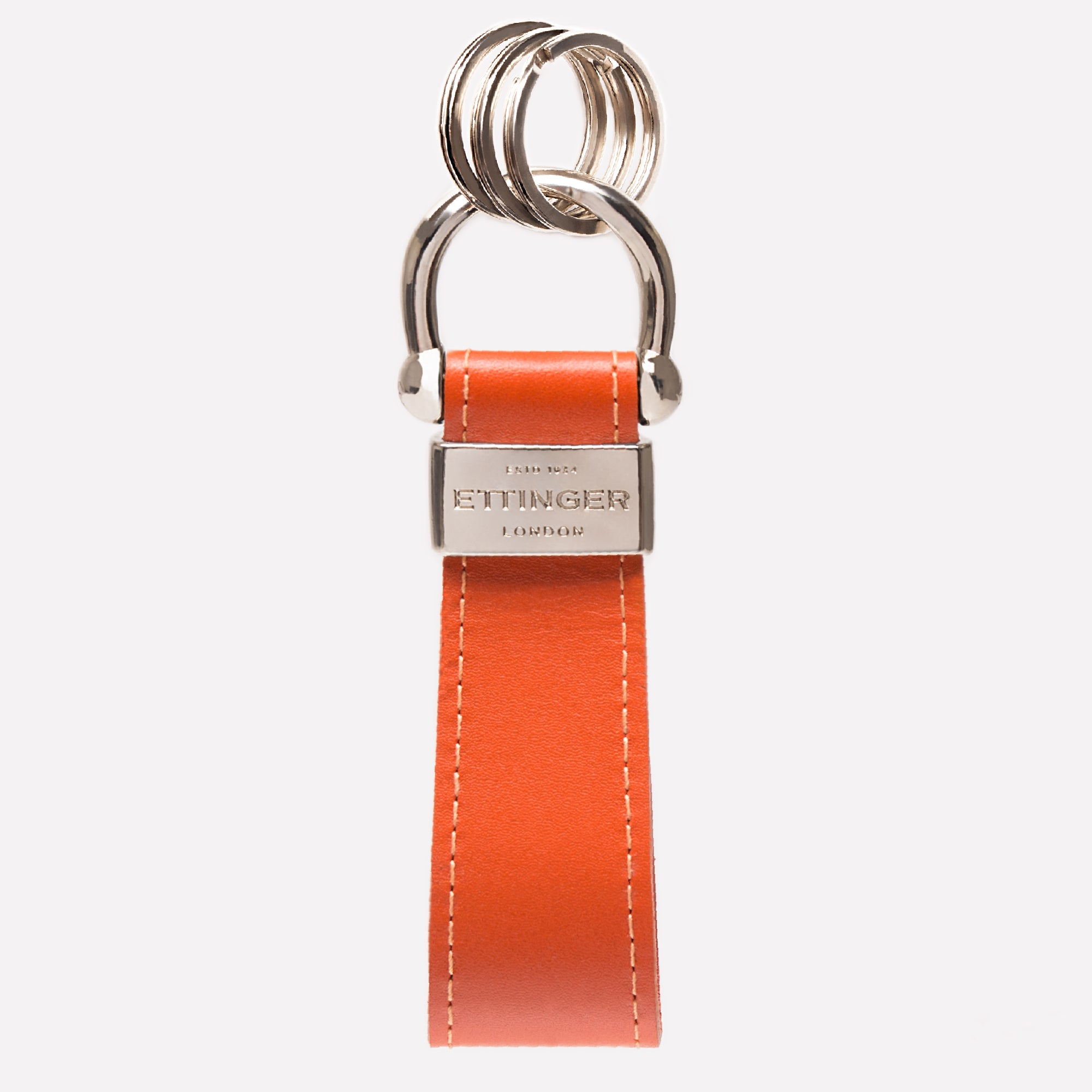 STERLING STIRRUP KEYRING - ORANGE