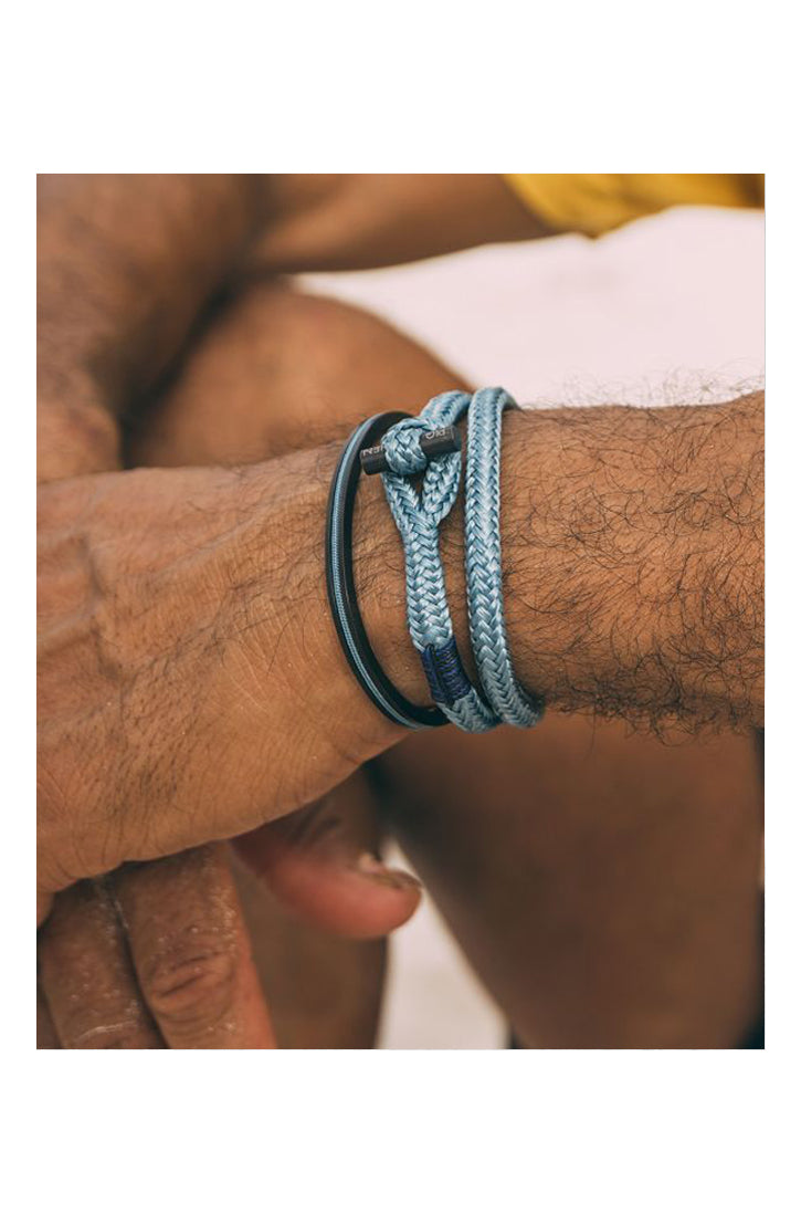 TINY TINY BRACELET - SKY BLUE-BLACK