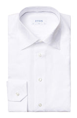 WHITE ON WHITE ART-DECO JACQUARD SHIRT