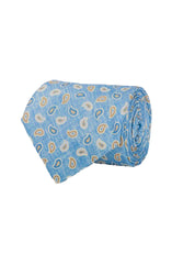 THE WAYBURN FOULARD PRINT TIE - BLUE
