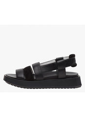 NINA SANDALS WITH SUEDE DETAILS - BLACK