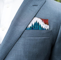 GREENWOOD FEATHER POCKET SQUARE