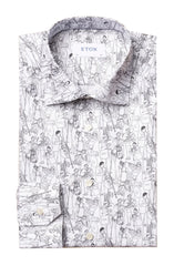 JAZZ PARTY PRINTED WHITE SHIRT