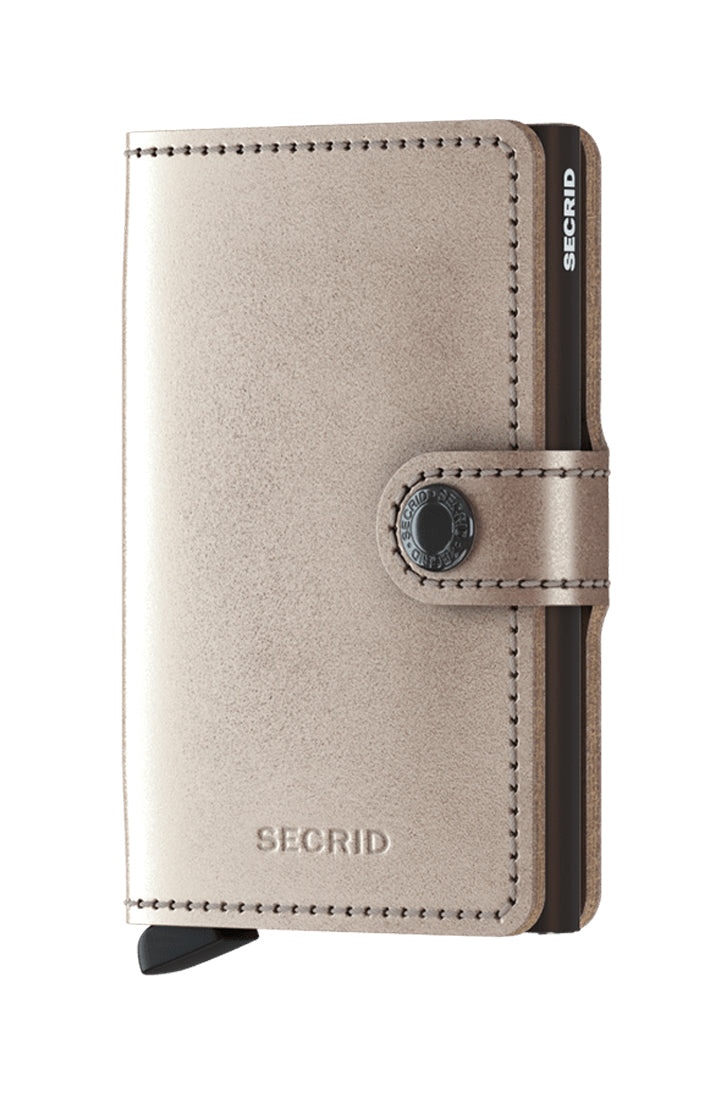 MINIWALLET - METALLIC CHAMPAGNE BROWN