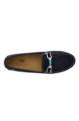 WOMEN'S DECK DRIVER SHOES - NAVY SUEDE