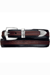 mens leather belt, brighton belts, brown and black leather belt, mens leather belts from brighton, brighton leather