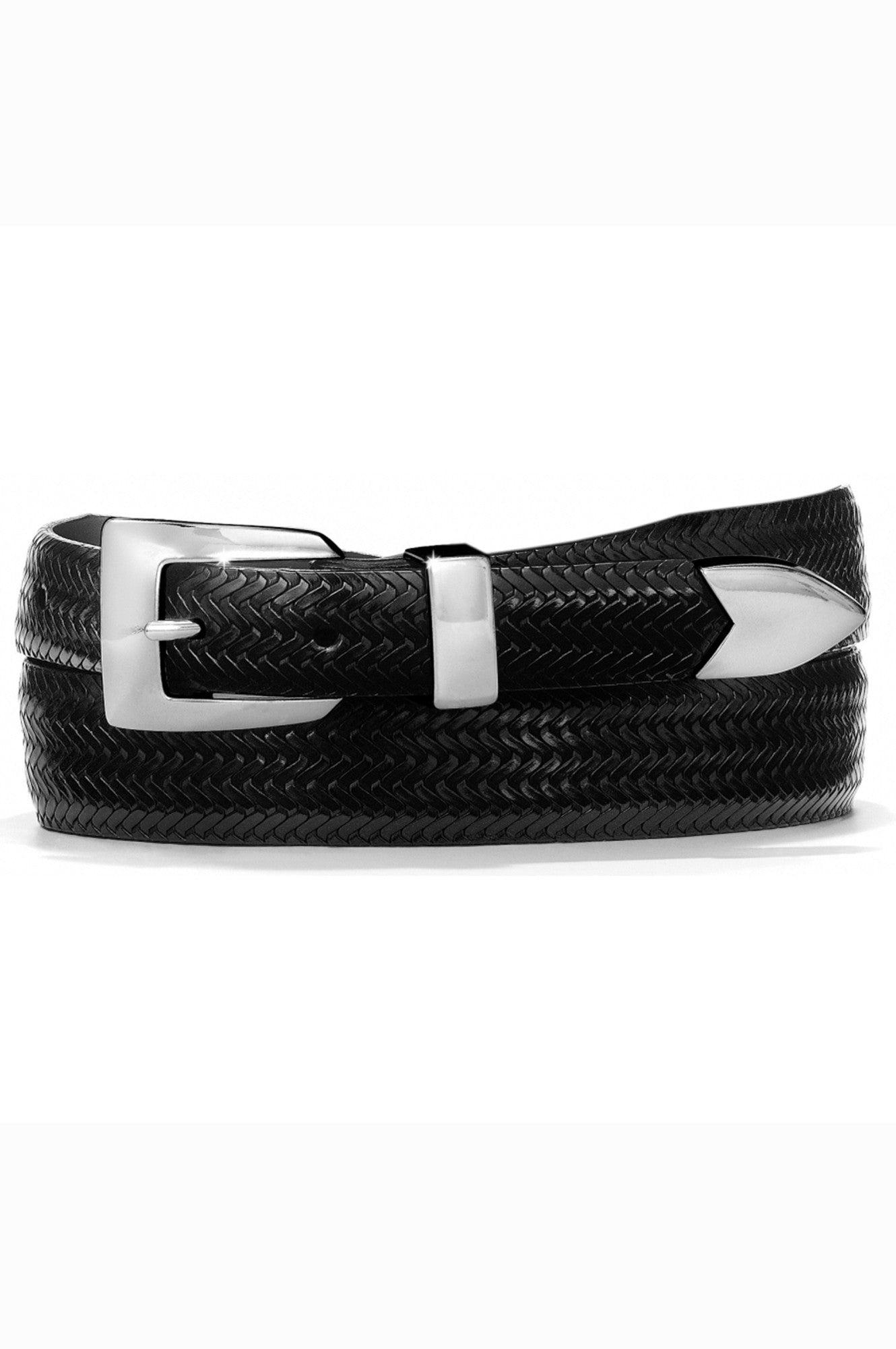 black leather belt, mens belt, belts, brighton belts, black basket weve belt, mens black leather brighton belts, brighton leather