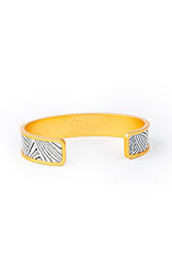 WESA THIN CUFF FEATHER BRACELET