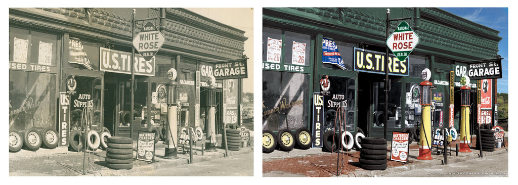 Front Street Garage Photo Restoration
