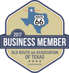Business Member badge Old Route 66 Association of Texas