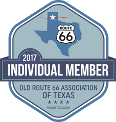Individual Member badge Old Route 66 Association of Texas