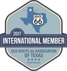 International Member badge Old Route 66 Association of Texas