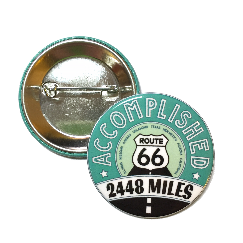2448 Miles Accomplished Button