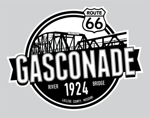 Gasconade Bridge Vinyl Sticker