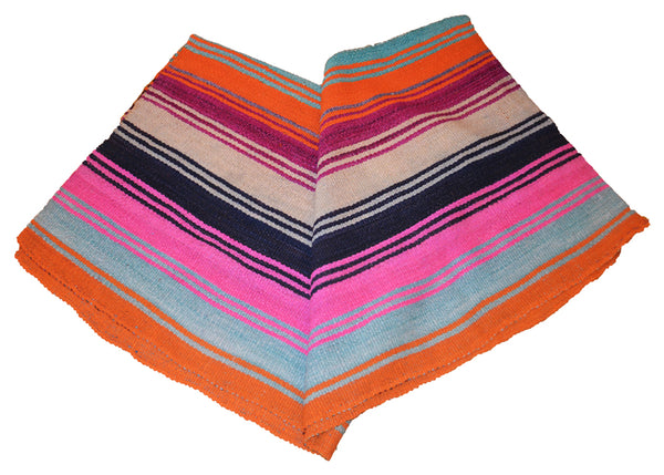 vintage handwoven colorful frazada blanket made from alpaca wool