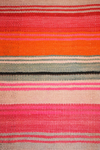 colorful handwoven vintage frazada blanket made from alpaca wool