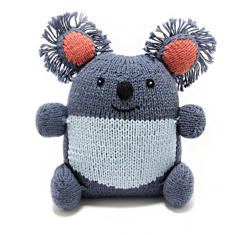 handwoven organic cotton koala stuffed animal