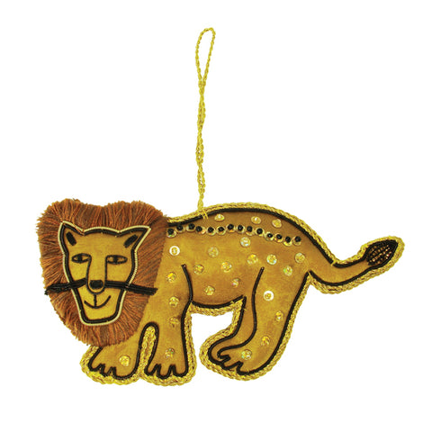 handmade lion Christmas Tree Ornament