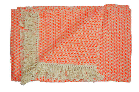bright orange throw blanket