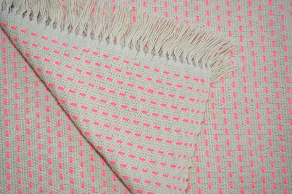 bright pink throw blanket