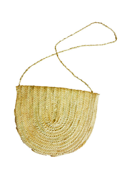 woven cross-body purse with strap