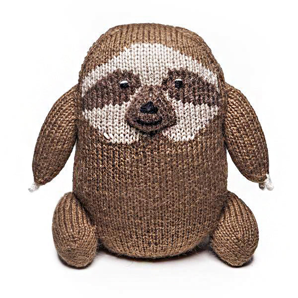 handwoven organic cotton sloth stuffed animal