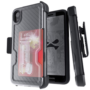 Motorola Moto E6 Case | Belt Clip Holster & Built-In Kickstand IRON ARMOR 3 Case | UVIYO CASES , Moto E6 Cases , GHOSTEK - UVIYO