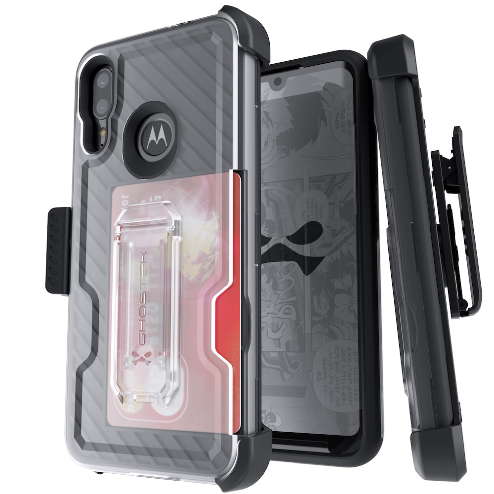 Motorola Moto E6 Plus Case | Belt Clip Holster & Built-In Kickstand IRON ARMOR 3 Case | UVIYO CASES , Moto E6 Plus Cases , GHOSTEK - UVIYO