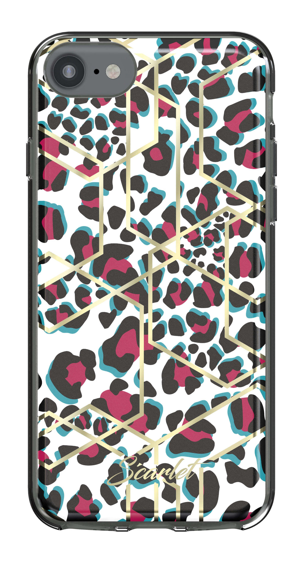 iPhone SE (2nd gen - 2020) and iPhone 8 / iPhone 7 Case | Scarlet LEOPARD | UVIYO CASES