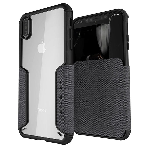 iPhone XS MAX Wallet Case | EXEC Leather Flip Case | UVIYO CASES , iPhone XS MAX Cases , GHOSTEK - UVIYO