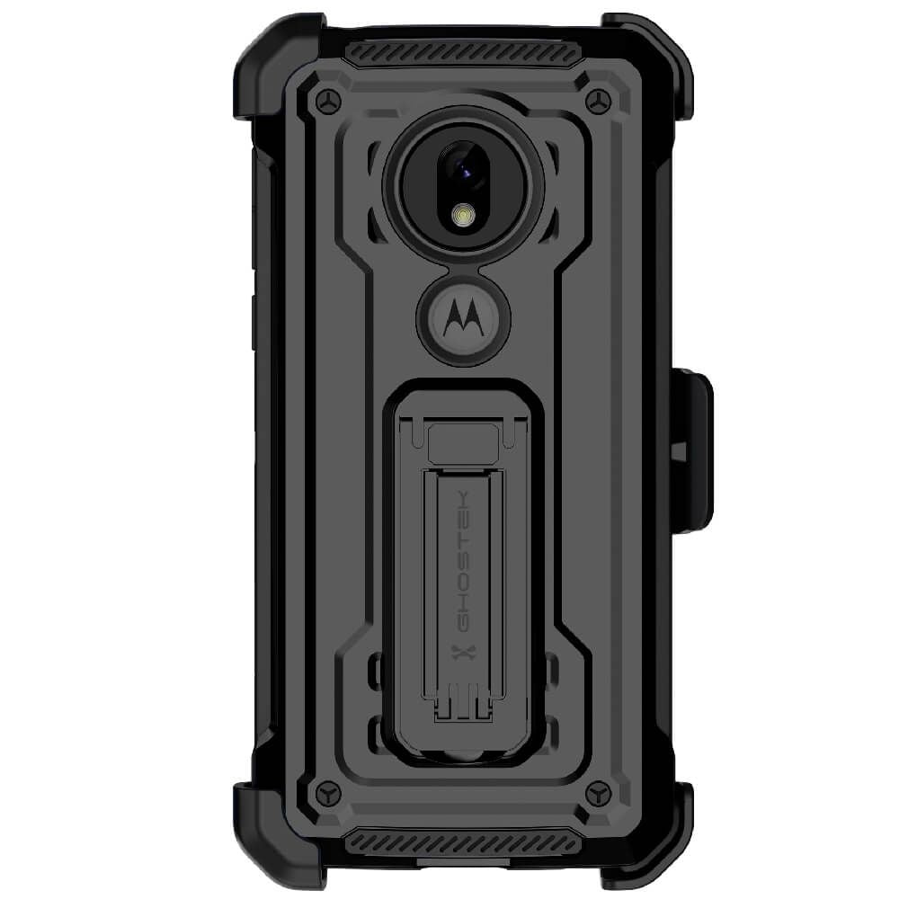 Moto G7 Play Case | Belt Clip Holster & Built-In Kickstand IRON ARMOR 2 Case | UVIYO CASES , Moto G7 Play Cases , GHOSTEK - UVIYO