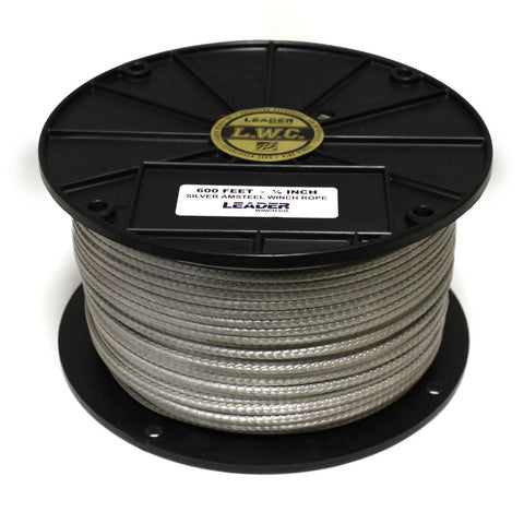 LWC Replacement Winch Rope - 600 ft. Silver