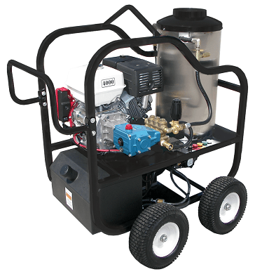 Pressure Washer 4 Wheel Portable 12V Direct Drive 4000psi - Honda GX390 - Cat Pump - Clean Quip