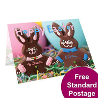 Chocolate Easter Bunny Personalised Card