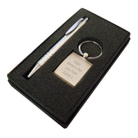 Silver Pen and Personalised Photo Keyring