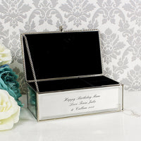 Mirrored Jewellery Box Personalised With Any Message